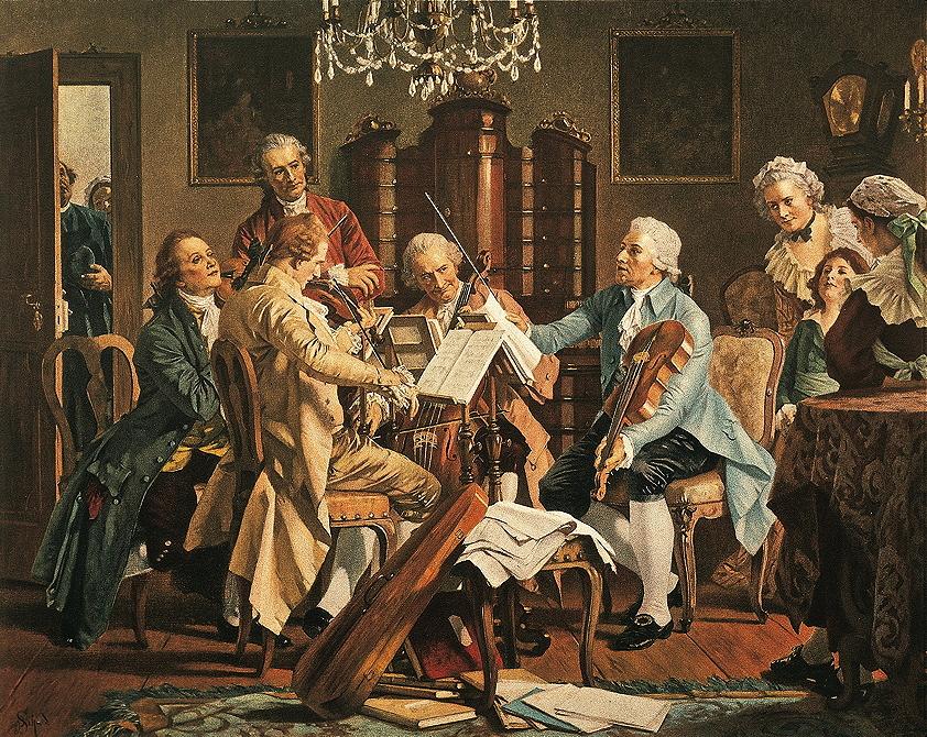 Fig. 1.1 Franz Hanfstaengl, <em>Haydn Quartet.</em>