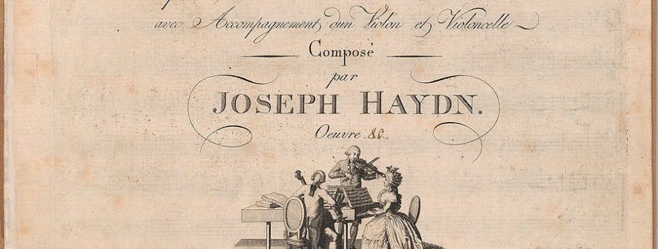 Fig. 1.3 Title page of Haydn, Piano Trio, Hob. XV:10.