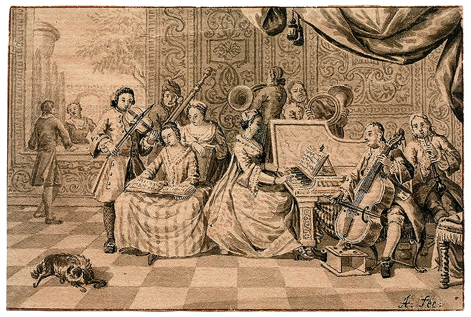 Aartman, Nicolaes, <em>Interior with a Musical Gathering.</em>