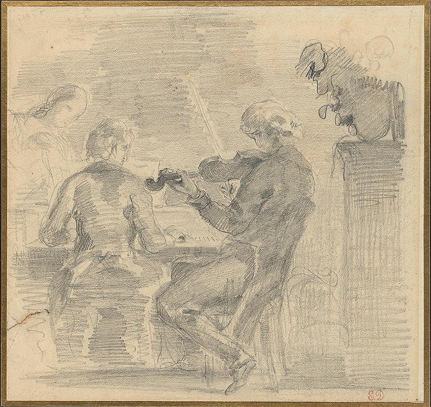 Delacroix, Eugène, <em>Musical Gathering.</em>