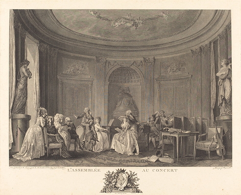 Dequevauviller, François Nicolas Barthélemy, <em>Gathering at the Concert.</em>