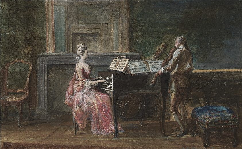 Fig. 1.4 Gabriel Jacques de Saint-Aubin, <em>The Musical Duo.</em>