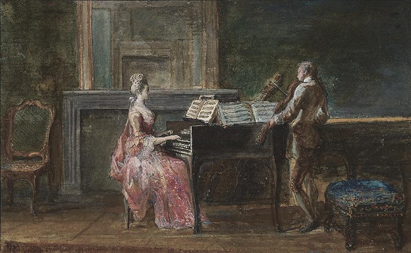 Fig. 1.4 Gabriel Jacques de Saint-Aubin, <em>The Musical Duo.</em>
