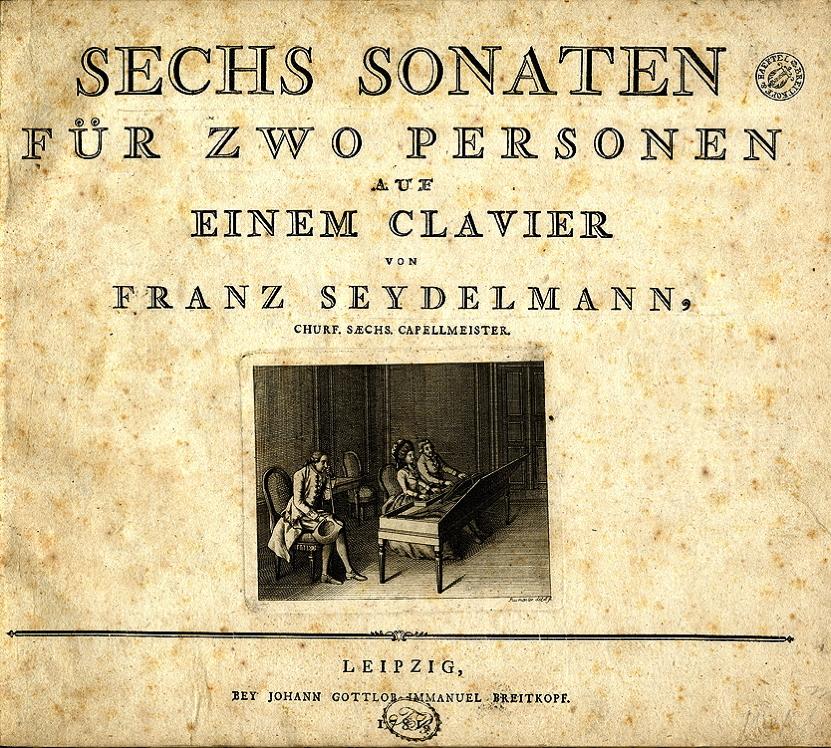 Fig. 7.1 Johann August Rosmaesler. Engraving from Seydelmann, <em>Sechs Sonaten für zwo Personen auf Einem Clavier.</em>