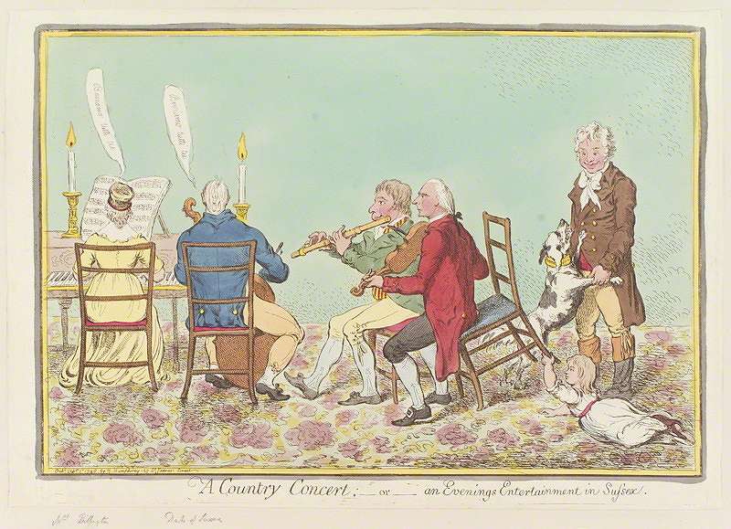 Gillray, James, <em>A Country Concert; or, An Evening's Entertainment in Sussex. </em>