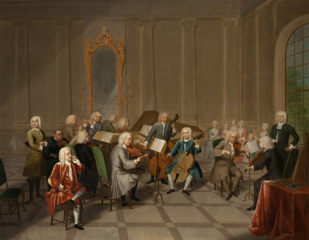 Heins, John Theodore, Sr., <em>A Music Party at Melton Constable.</em>