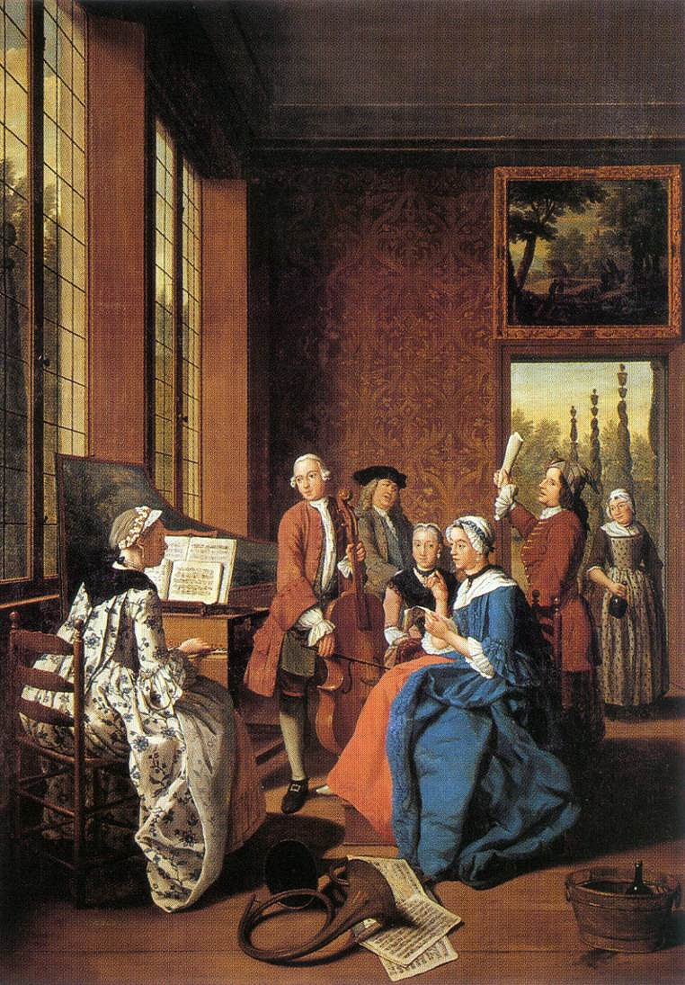 Horemans, Jan Josef, II, <em>Concert in an Interior.</em>