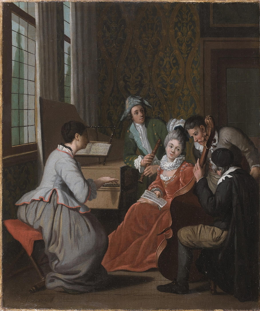 Horemans, Jan Josef, II, <em>Elegant Company Playing Music in an Interior.</em>