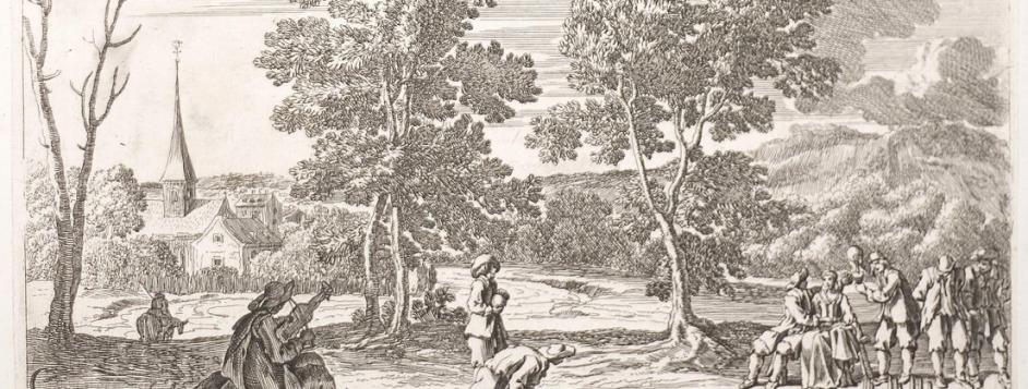 "Le Pautre, Jean (1618–82), ""The Entertainment after the Meal."" Engraving from <em>Arolsen Klebeband 9</em>"