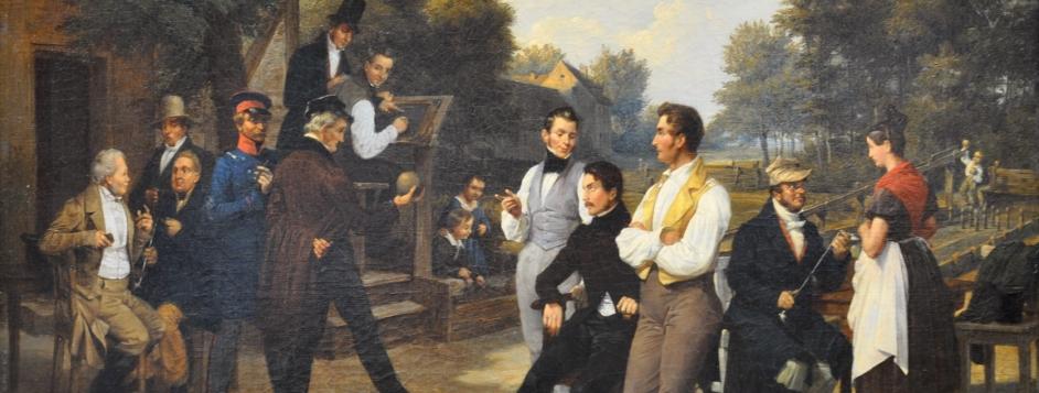 Meyerheim, Friedrich Eduard, <em>The Skittles Gathering.</em>