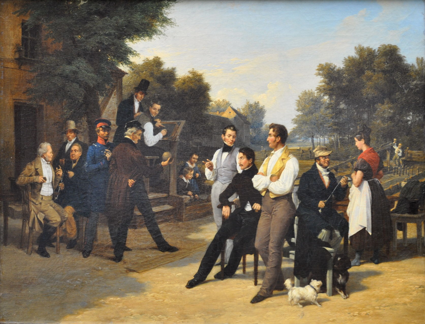 Meyerheim, Friedrich Eduard, <em>The Skittles Gathering.</em>