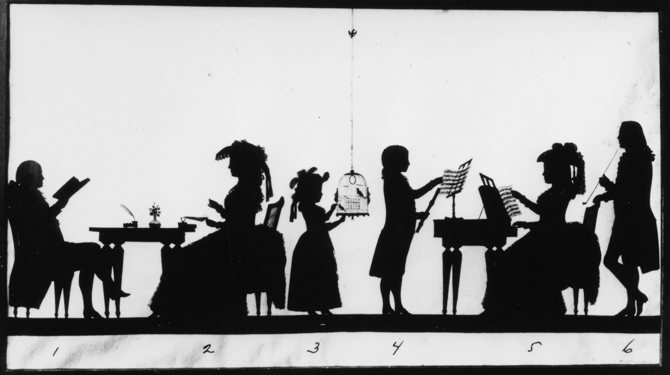 Unknown artist, <em>Silhouette Portrait of Joan Muijsken, Coenraad Muijsken, Their Wives, and Their Children.</em>