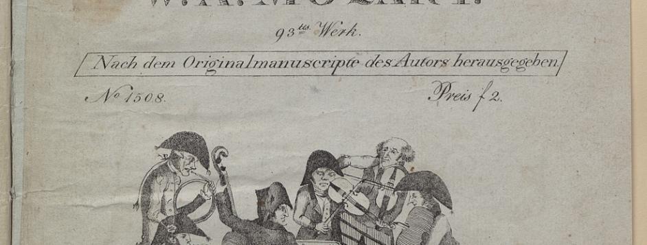 Title page of W. A. Mozart, <em>Musikalischer Spaß.</em>