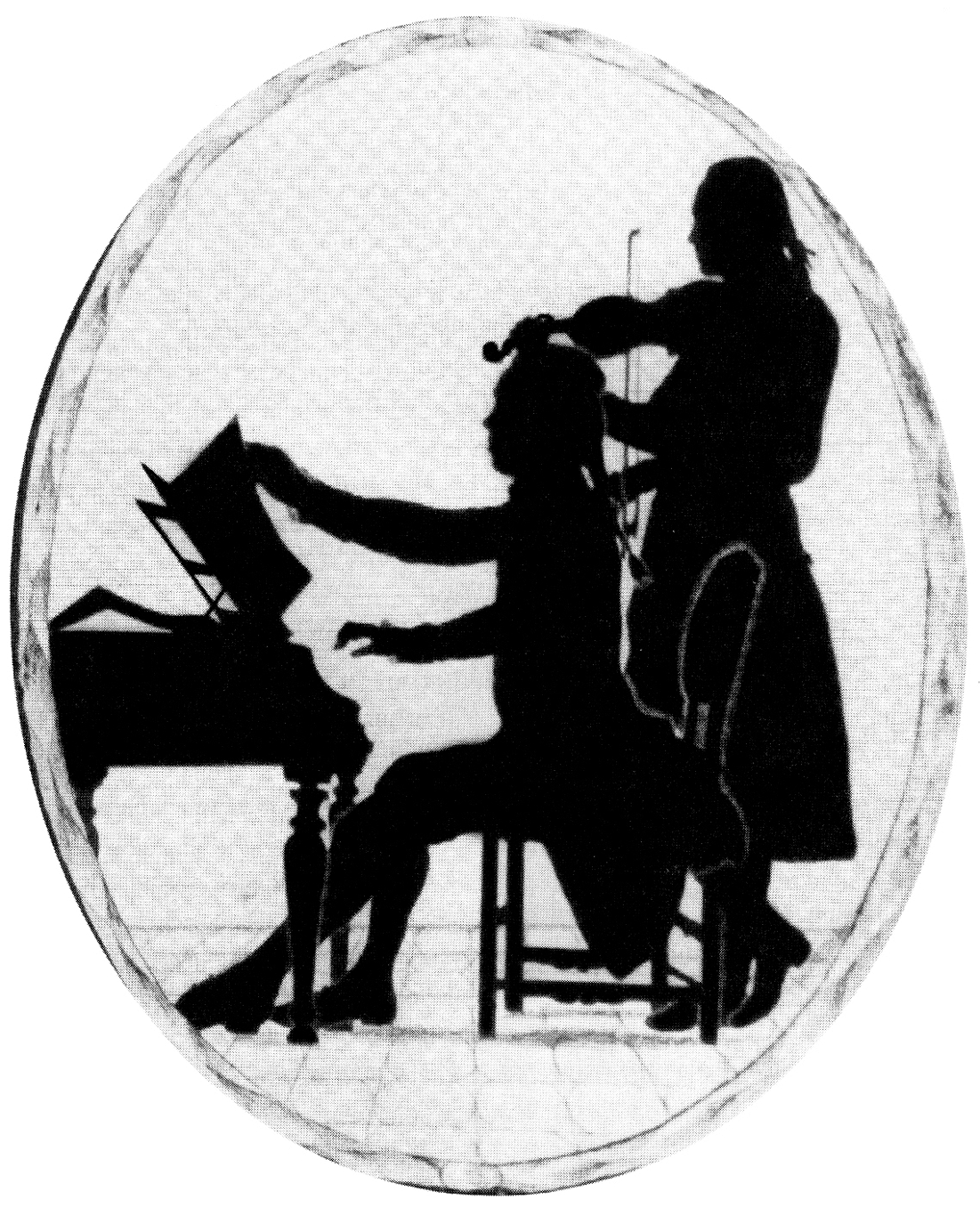 Widnmann, Joseph, <em>Silhouette of Wallerstein Court Musicians Playing a Sonata.</em>