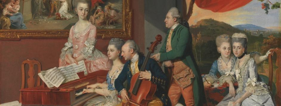 Zoffany, Johan Joseph, <em>The Gore Family with George, Third Earl Cowper.</em>
