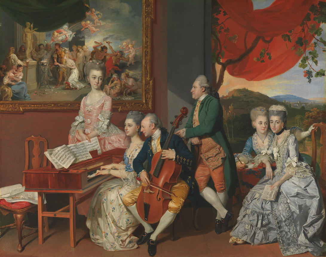 Zoffany, Johan Joseph, <em>The Gore Family with George, Third Earl Cowper.</em>