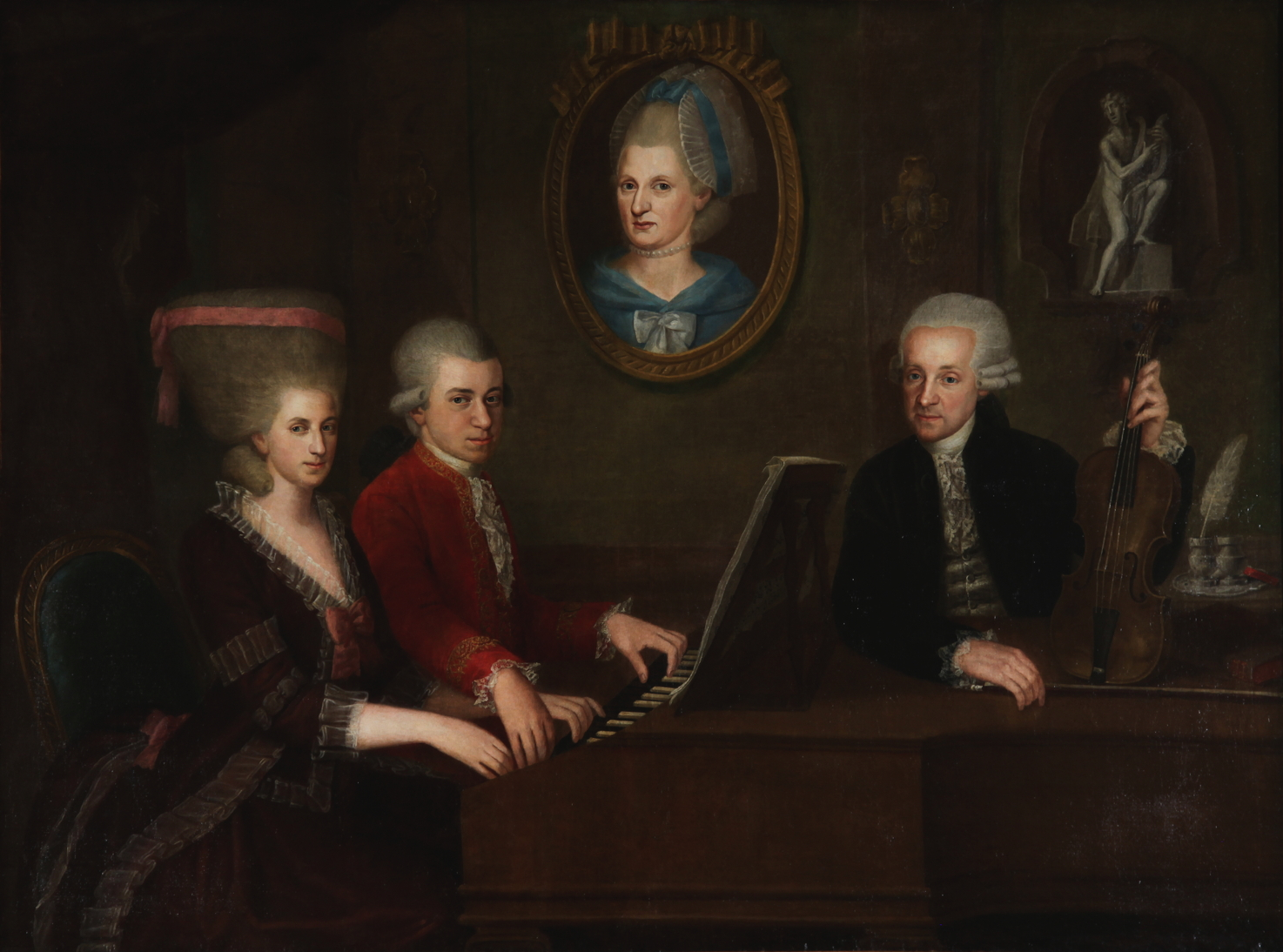 della Croce, Johann Nepomuk. <em>Portrait of the Mozart Family.</em>